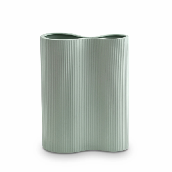 Marmoset Found Ribbed Infinity Vase, Medium - Blue (4761381142612)