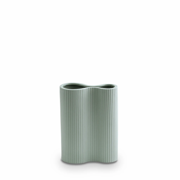 Marmoset Found Ribbed Infinity Vase, Small - Blue (4761384386644)
