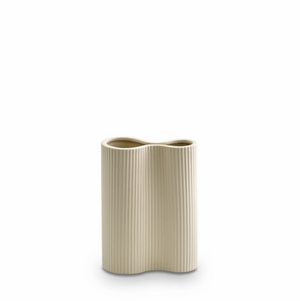 Marmoset Found Ribbed Infinity Vase, Small - Cream (4761384747092)