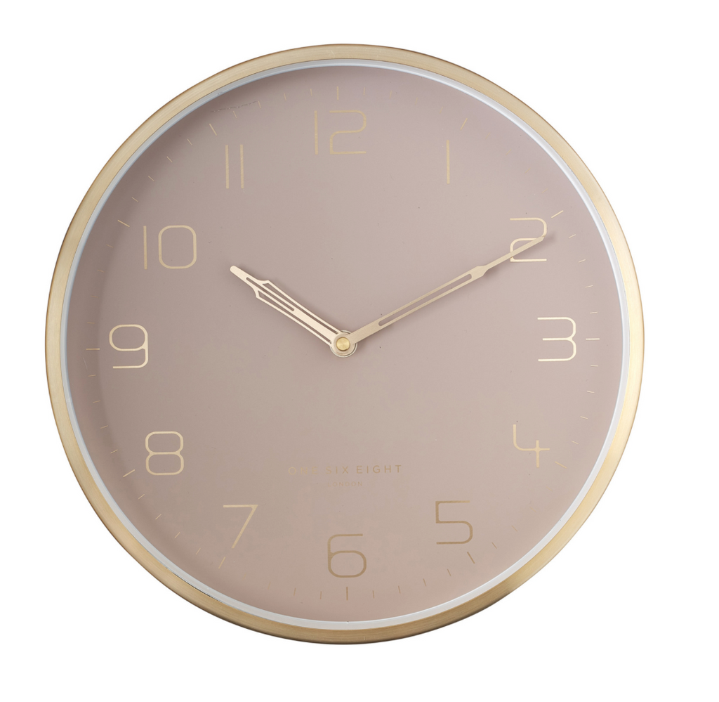 LILY 30cm Dusty Rose Silent Wall Clock (6552496308412)