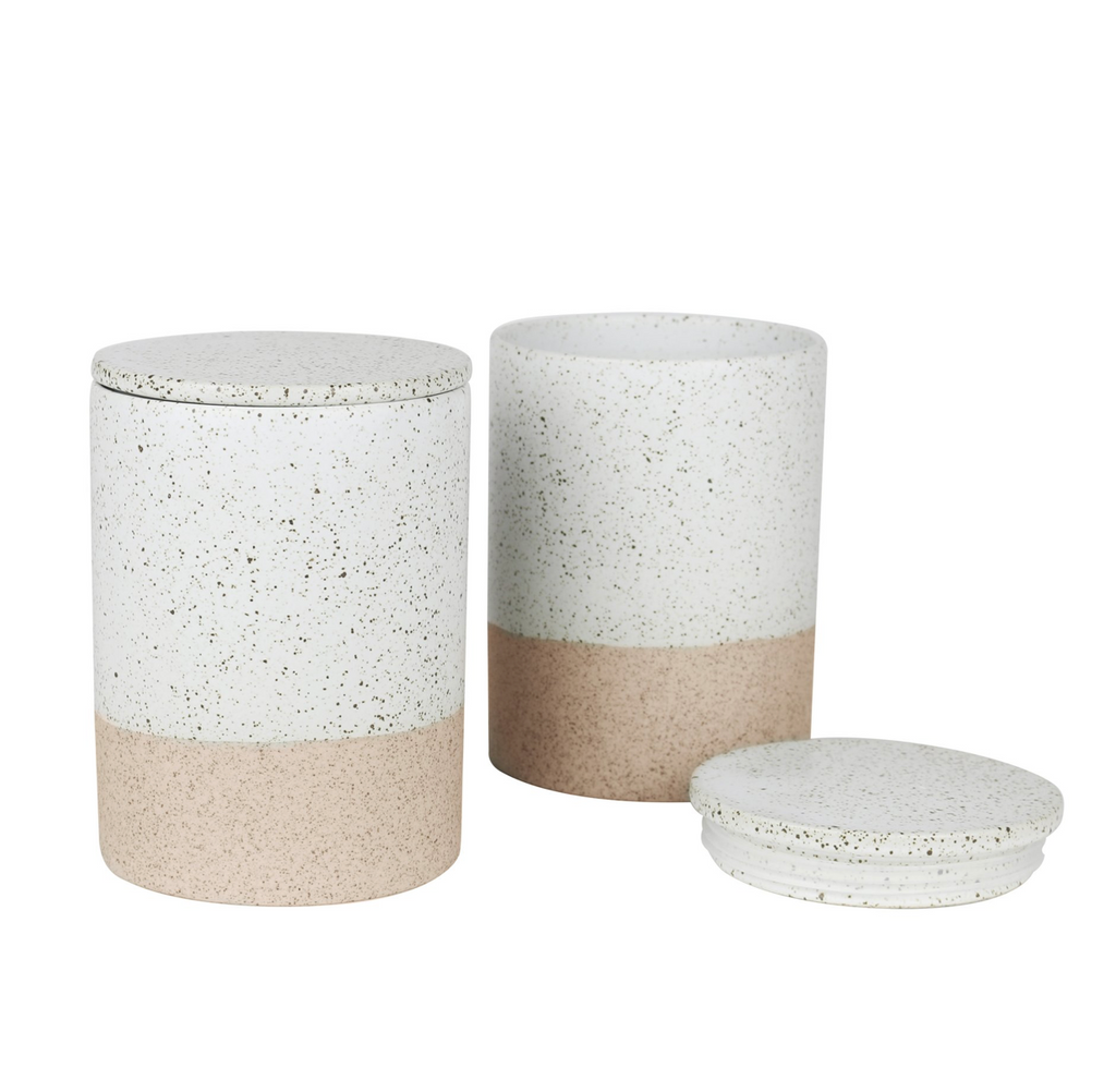 Robert Gordon White Garden to Table - Canisters Set of Two (6569143828668)