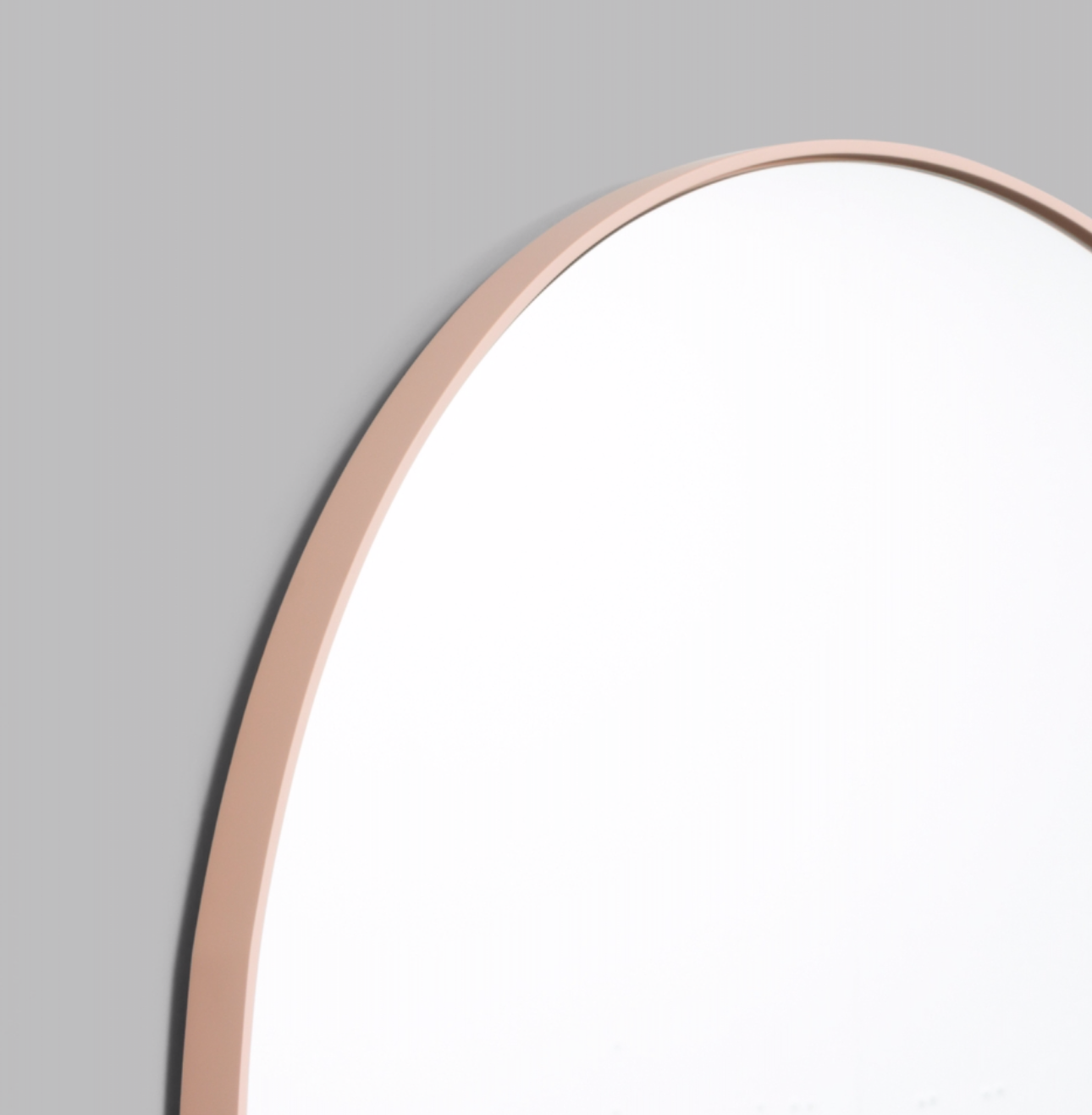 Middle of Nowhere Bjorn Round Mirror - Powder, Various Sizes (6574439170236)