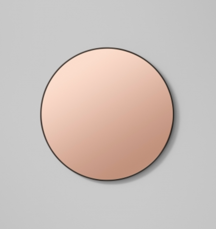 Middle of Nowhere Flynn Round Mirror - Black/Dusk, 80cm - norsu interiors
