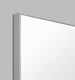 Middle of Nowhere Flynn Rectangle Mirror - Mid Grey, 100 x 120cm