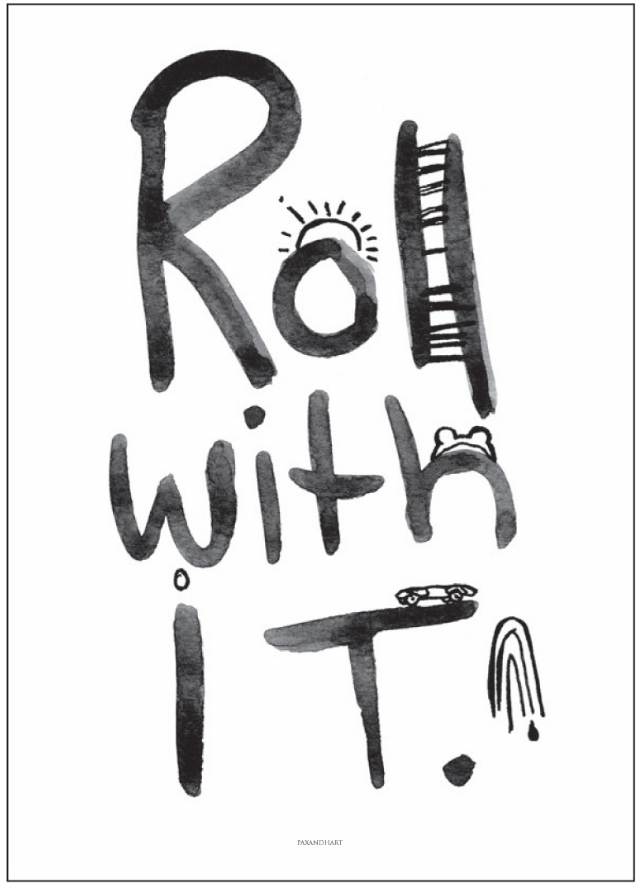 Pax and Hart - Roll With It Print 50x70cm - norsu interiors