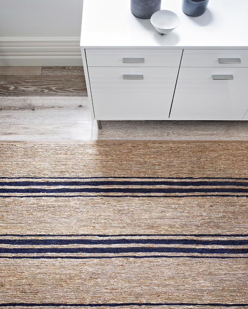 Armadillo&Co River Rug - Indigo Ticking Stripe - norsu interiors (782625931355)