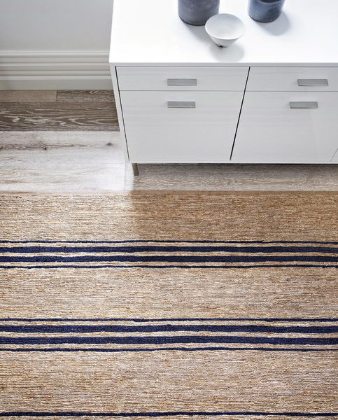 Armadillo&Co River Rug - Indigo Ticking Stripe - norsu interiors