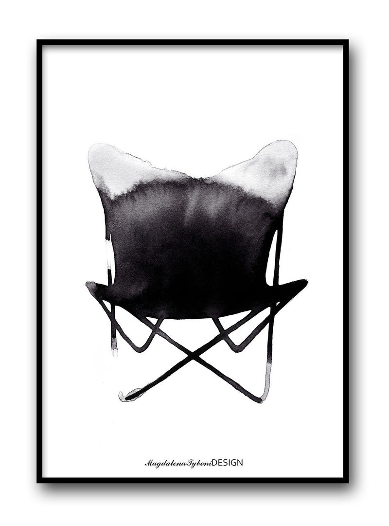 Magdalena Tyboni - Butterfly Chair print (50x70cm) - norsu interiors - 1 (5769515267)