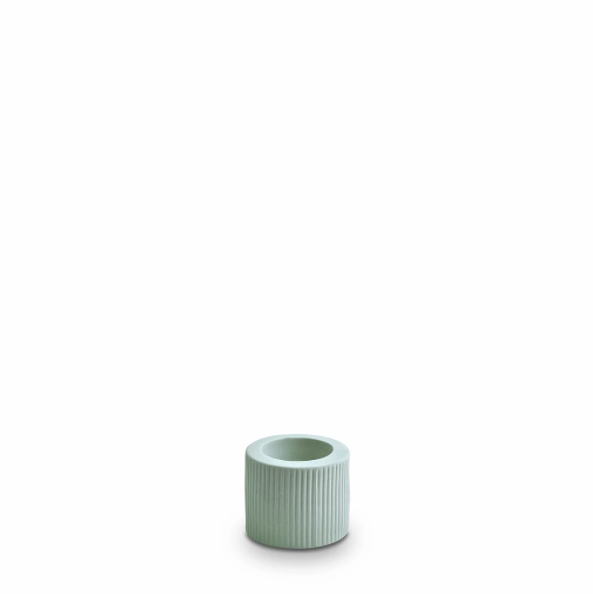 Marmoset Found Ribbed Infinity Candle Holder, Small - Blue (4761427083348)