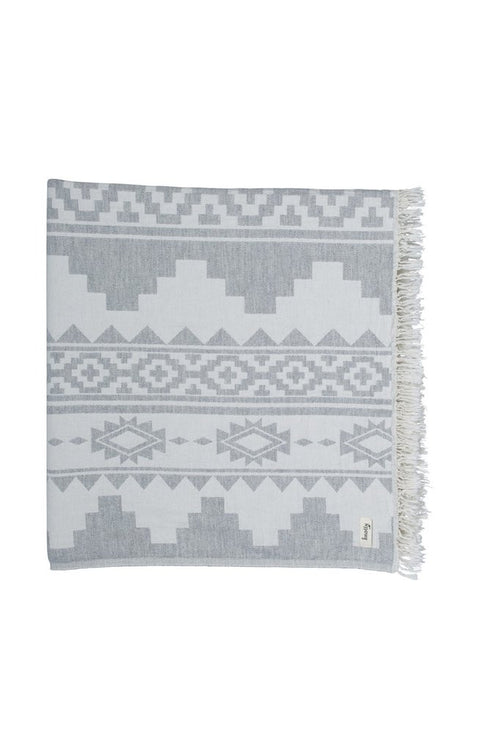 Knotty Oteki Lambswool Arizona Throw Light Grey - norsu interiors