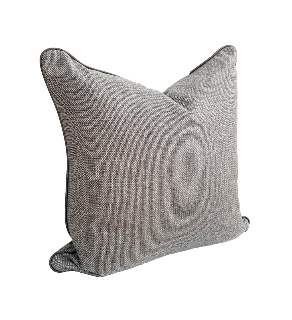 norsu interiors Cushion, Lindeman Steel with Charcoal Piping (4650340384852)