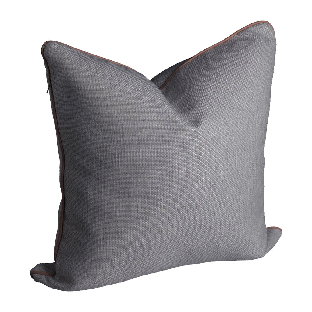 norsu Cushion, Lindeman Steel with Blush Piping (4753547624532)