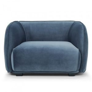 The Curve Armchair - Dusty Blue (4610211709012)