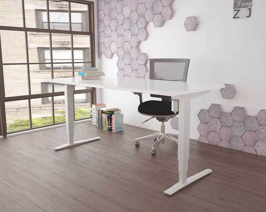 Best Seller! Conset 501-33 Electric Desk in White, Silver or Black, with or without a top