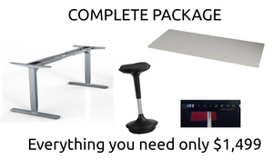Programmable Height Desk Package - Complete with Sitool