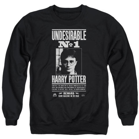Harry Potter Wanted Undesirable No 1 Poster Sweatshirt