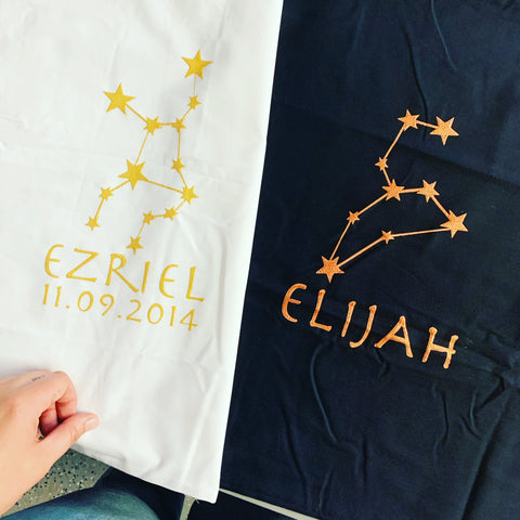 Starsign constellation custom pillowcase