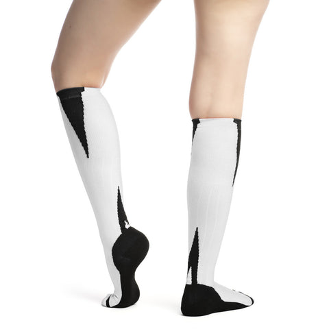 Evo Socks Unisex Athletic Compression Socks 15-20 mmHg - White / Small / 1 Pair - Knee High - 1