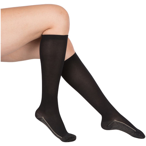 Evo Socks Women's Copper Compression Socks 20-30 mmHg - Black / Small / 1 Pair - Knee High - 1