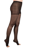 Women's Open Toe Compression Pantyhose 15-20 mmHg