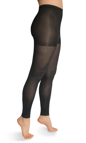 Women's USA Made Microfiber Footless Tights 16-25 mmHg