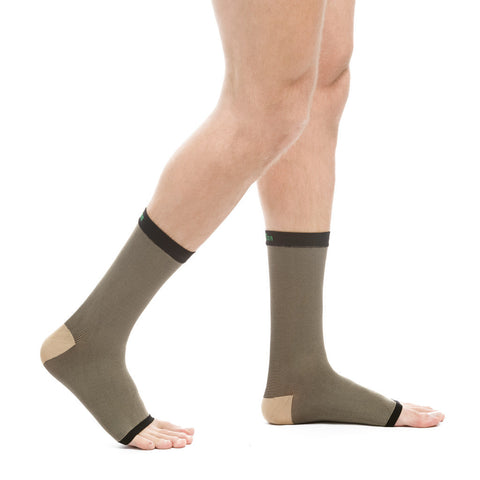 Evo Socks Unisex Copper Compression Ankle Sleeves - Black / Small / 1 Pair - Ankle Sleeve - 1