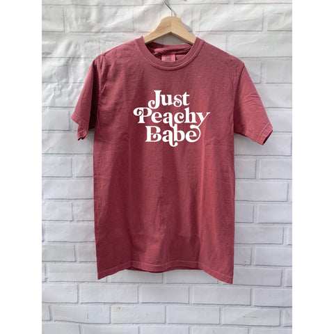 Just Peachy Babe- Vintage Heavyweight Tee