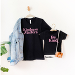 Kindness Matters-Set of 2 Unisex Heather Black Shirts