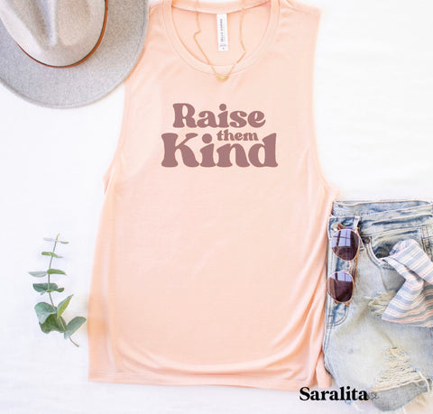 Raise them Kind- Peach Tank