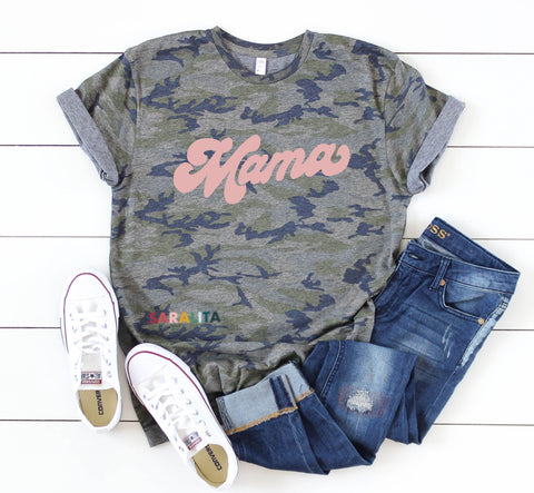 Retro Mama- Camo Unisex Tshirt - ***Limited Time Offer 50% off***