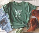 Butterfly Change- Vintage Heavyweight Tee
