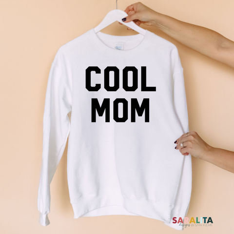 COOL MOM- Black/White Sweater
