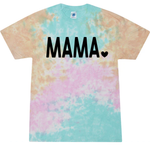 MAMA Heart- Cotton Candy Tie Dye Shirt