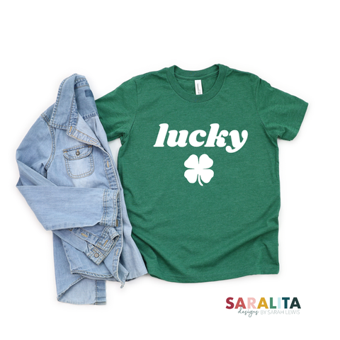 Lucky 🍀 - YOUTH Green Tee