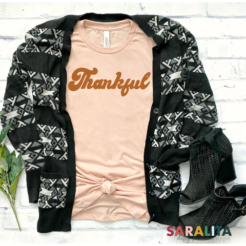 Thankful Retro- Short Sleeve Tee