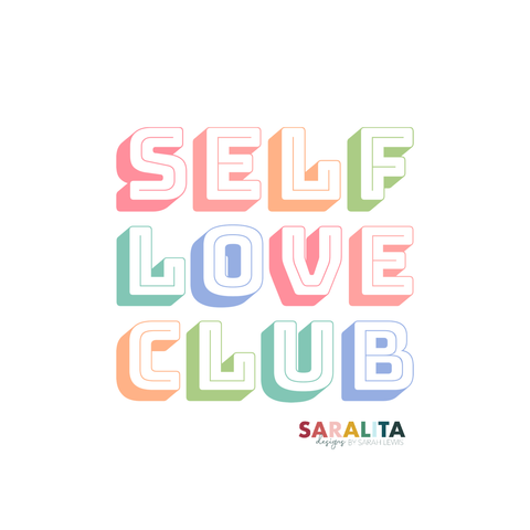 Self Love Club- Sticker- Waterproof