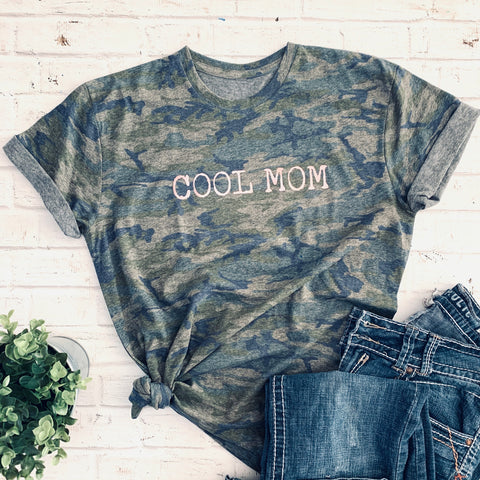 Cool Mom- Camo Triblend Unisex T-shirt