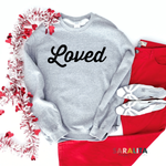 """Loved"" Adult Sweater"