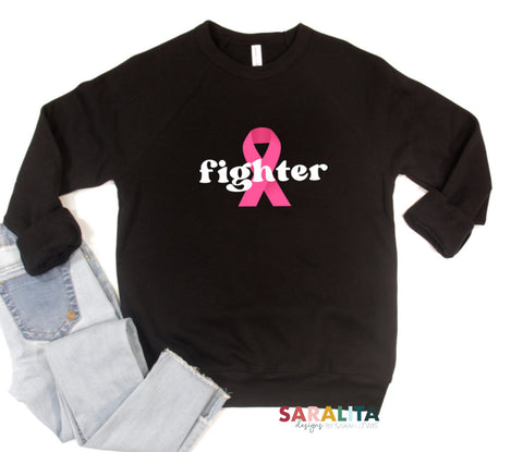 """Fighter"" Cancer Awareness Sweater"