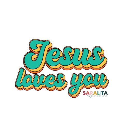 Jesus loves you - Sticker- Waterproof