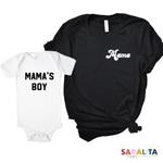 Mama Retro & Mama's Boy-Set of 2 Unisex Shirts