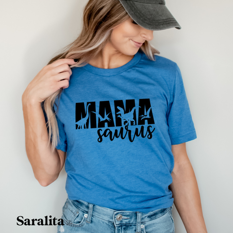 MamaSaurus- Royal Blue Tee Shirt