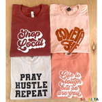 Pray Hustle Repeat-Premium Tee