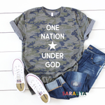 One Nation Under God - Premium Tee-3 color options