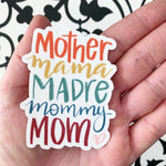 Sticker-Waterproof-Mother Mama Madre mommy MOM