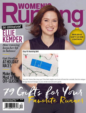 Women's Running Magazine Gift Guide Featuring Stay Fit Running Belt