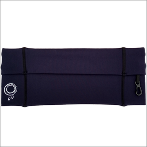 Navy Running Belt With Grey Stitching