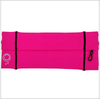 Pink Running Belt With Green Stitching