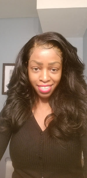 Glueless Raw Cambodian Lace Front Unit