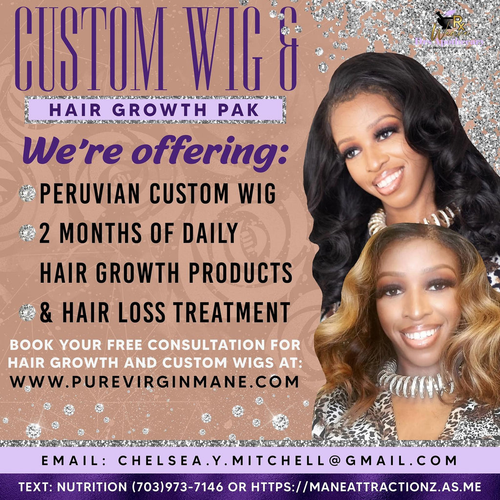 Custom Wig and Hair Growth Pak